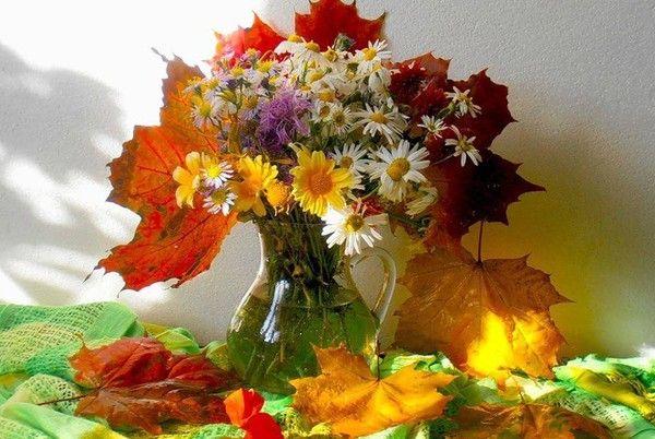 Joli bouquet d 39 automne pour vous mes ami es bisous - Bouquet d automne ...