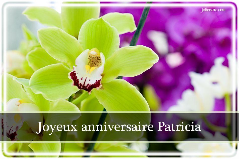 Joyeux Anniversaire Patricia Bisous